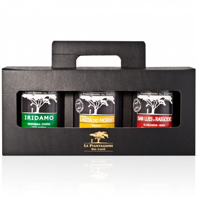 3x250g Ground Coffees San Luis & Raigode, Iridamo and Lagoa do Morro Gift Set