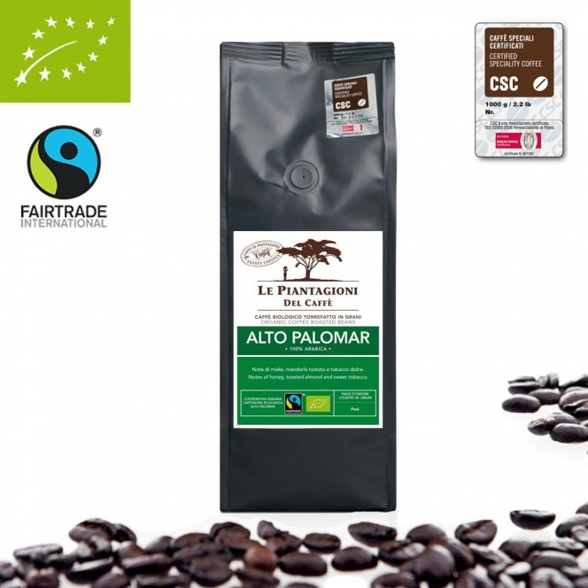 Fairtrade, Organic Coffee Beans Alto Palomar 100% Arabica 500g