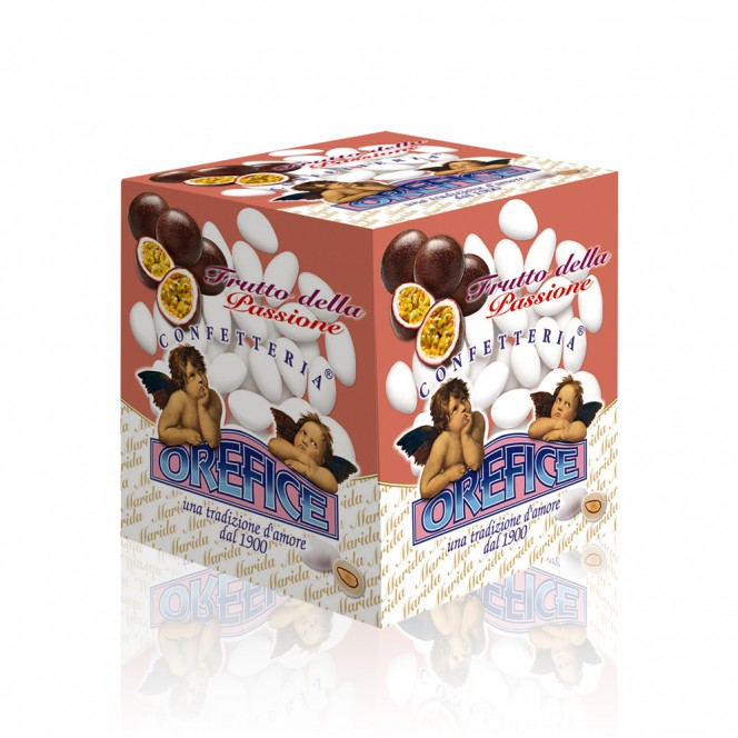 Passion Fruit Flavouered Sugared Almonds 500 Gr