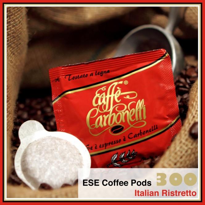 300 Coffee Pods ESE Italian Ristretto