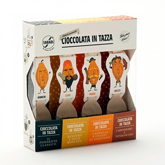 Italian Modica Organic Mixed Extra-dark Hot Chocolate - 4 flavours