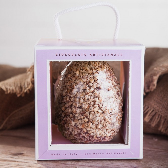 Artisan Milk Chocolate and Hazelnut Easter Egg in a Colored Gift Box | 250 Gr