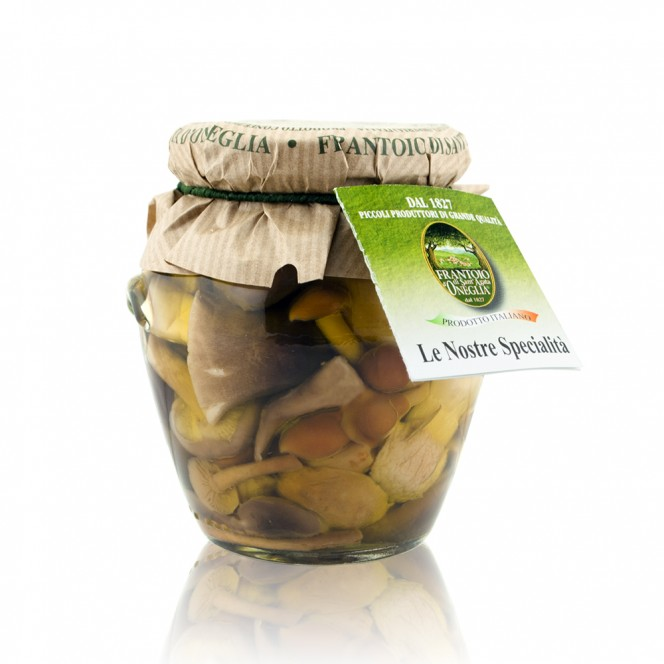 Italian Mushroom Mix With Porcini in Extra Virgin Olive Oil and Wine Vinegar 280 Gr