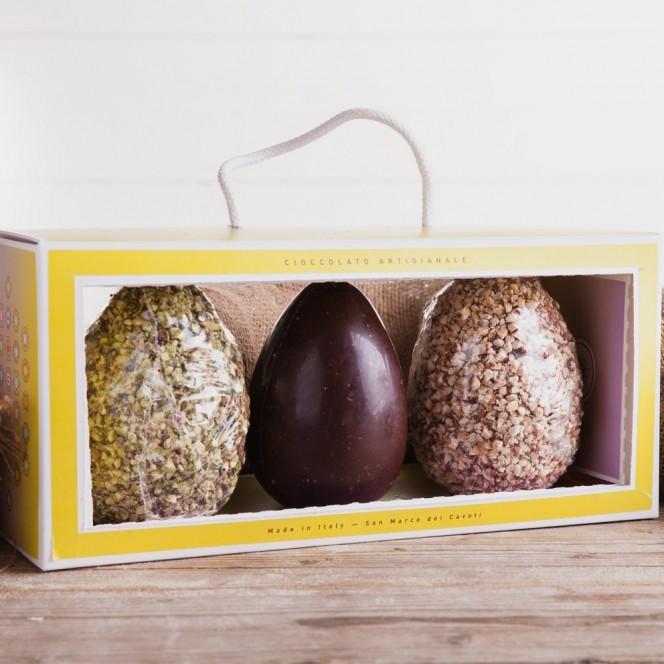Artisan Milk & Dark Chocolate Easter Egg Gift Box