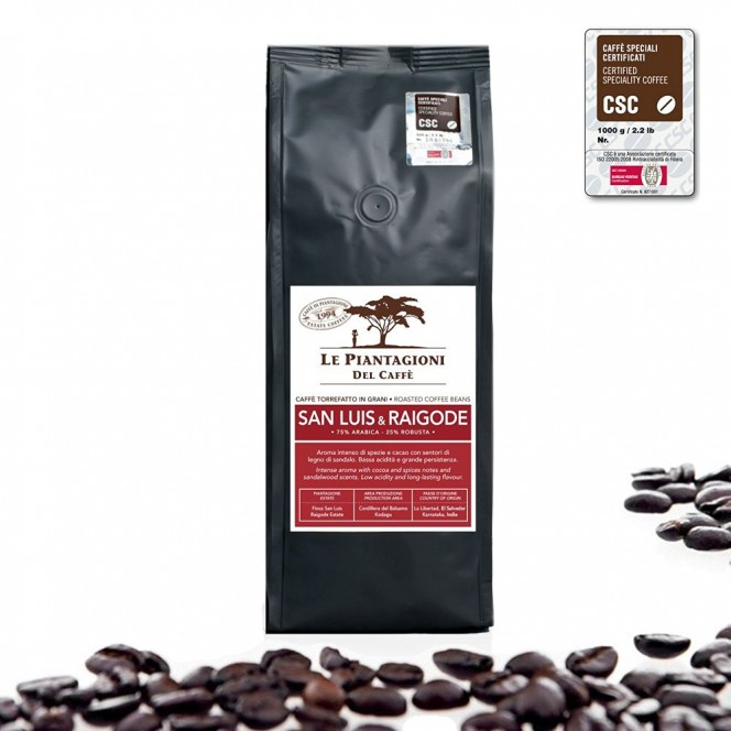 Single Estate Coffee Beans San Luis & Raigode 75% Arabica 500g