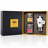 Specialty Ground Coffee & Ceramic Moka Gift Box