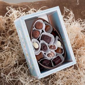 Almond & Hazelnut Chocolate Easter Egg With Pralines