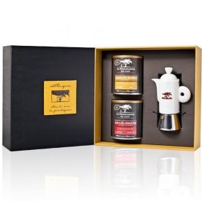 Specialty Ground Coffee & Ceramic Moka Gift Box