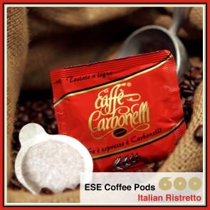 600 Coffee Pods ESE Italian Ristretto