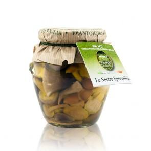 Italian Mushroom Mix With Porcini in Extra Virgin Olive Oil and Wine Vinegar 280 Gr